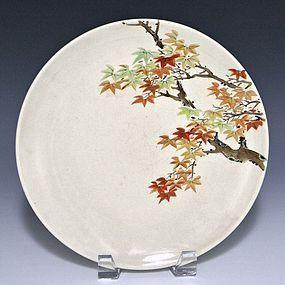 ITO TOZAN I Kyoto Satsuma Pottery Japanese Plate
