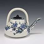 Edo Era Japanese Sometsuke Hirado Tea Pot