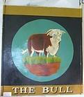 Antique English Bull Pub Sign Restaurant Trade Sign