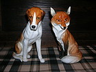 Antique Royal Worcester Fox & Hound Doris Lindner