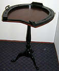 Antique English Horse Shoe Tilt Top Side Table Wood