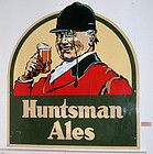 Huge Vintage Huntsman Ales Bar Trade Sign Advertising