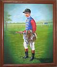 SIR GORDON RICHARDS - Vintage Painting Signed Original
