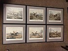 RARE Set/6 HENRY ALKEN FORES'S HUNTING CASUALTIES FOX HUNTING PRINTS