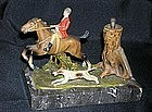 Early English Fox Hunt Tree Stump Match Striker