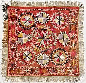 An Uzbek embroidered wedding textile from Afghanistan