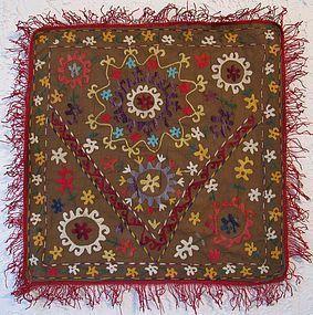 A Lakai Uzbek embroidered panel - mid 20th century