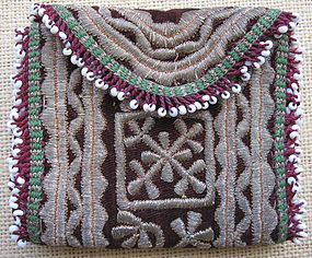 A Pashtun nomad's purse from Ghazni, circa 1960