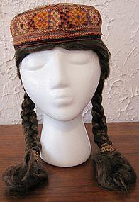 A Turkman Yomut child's cap  from Herat - circa 1950