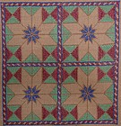 A Hazara embroidered cloth, 33x39 cm