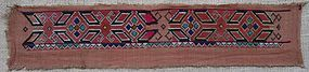 An Uzbek embroidered band, early-mid 20th century