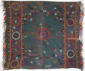 Un Uzbek hand-embroidered curtain from Afghanistan