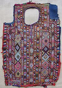 A Baluch woman's dress front from Pakistan