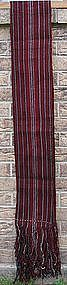 A vintage wool sash from Tibet with stripes