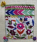 A Tajik hand-embroidered purse from Badakhshan province