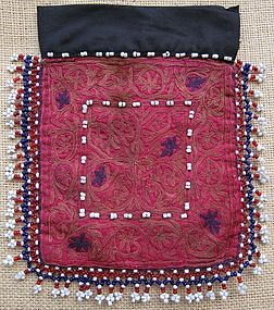 A Pashtun beaded pouch from Pakistan