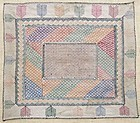 An embroidered Hazara napkin from central Afghanistan