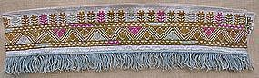An embroidered textile from Kandahar, Afghanistan