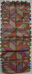 A beaded, embroidered purse from Bamiyan province