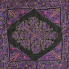 A silk-embroidered cushion cover from Swat Valley