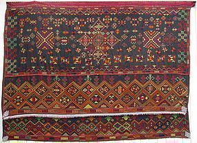 A hand-embroidered wedding shawl from Indus Kohistan