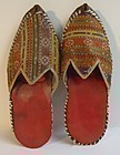 A pair of Pashtun slippers - mid 20th century