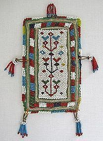 A small Pashtun beaded bag