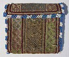 A lady's wallet in finely embroidered metallic thread