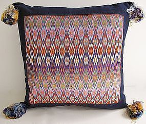A finely embroidered cushion cover from Afghanistan