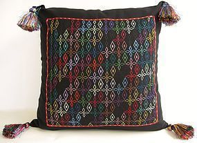 A contemporary embroidered cushion cover - Afghanistan