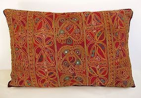 An Afghan Kuchi embroidered cushion