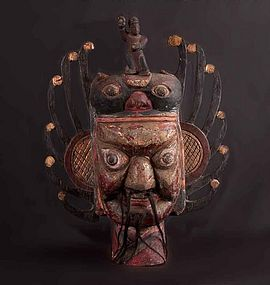 Old chinese ritual Nuo Mask, N°42, China