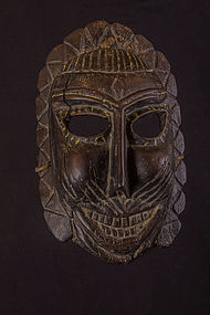 Very old primitive mask, India, Himalaya