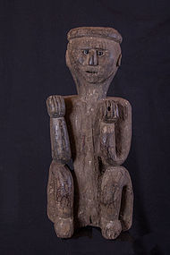 Super antique himalayan primitive figure, Nepal,
