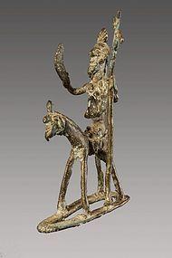 Old shamanic bronze n°17, Himalaya, Nepal