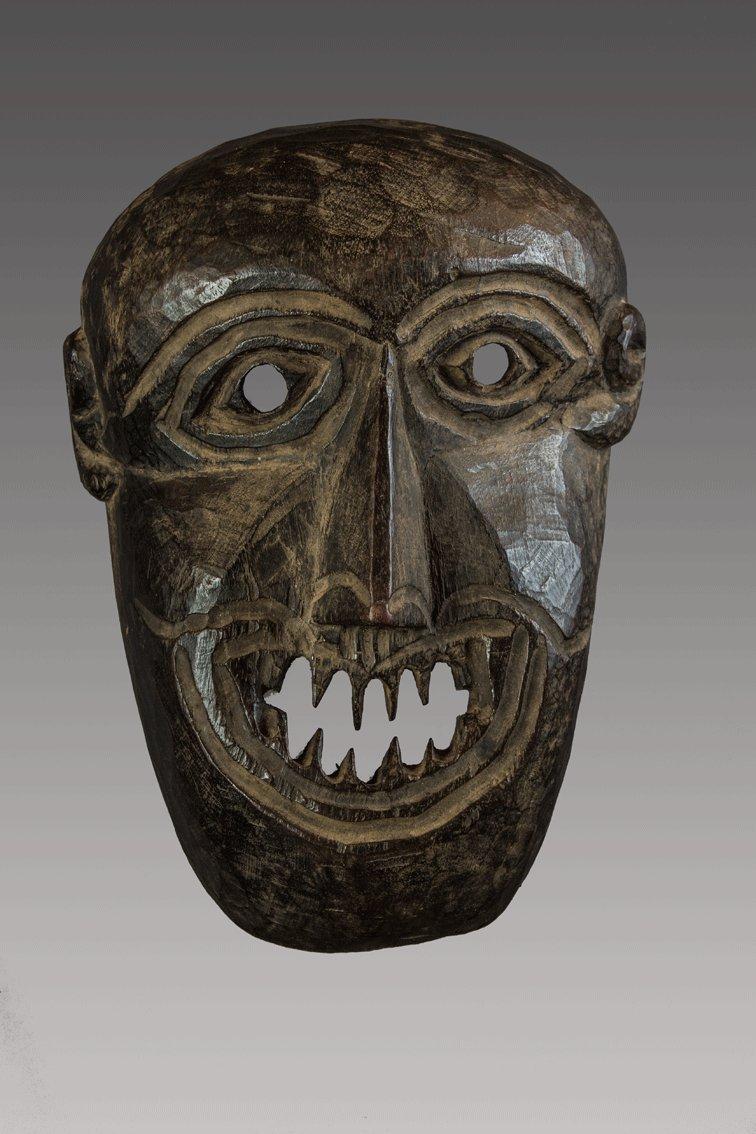 Sharp teeth primitive Himalayan mask, Himalaya, Nepal