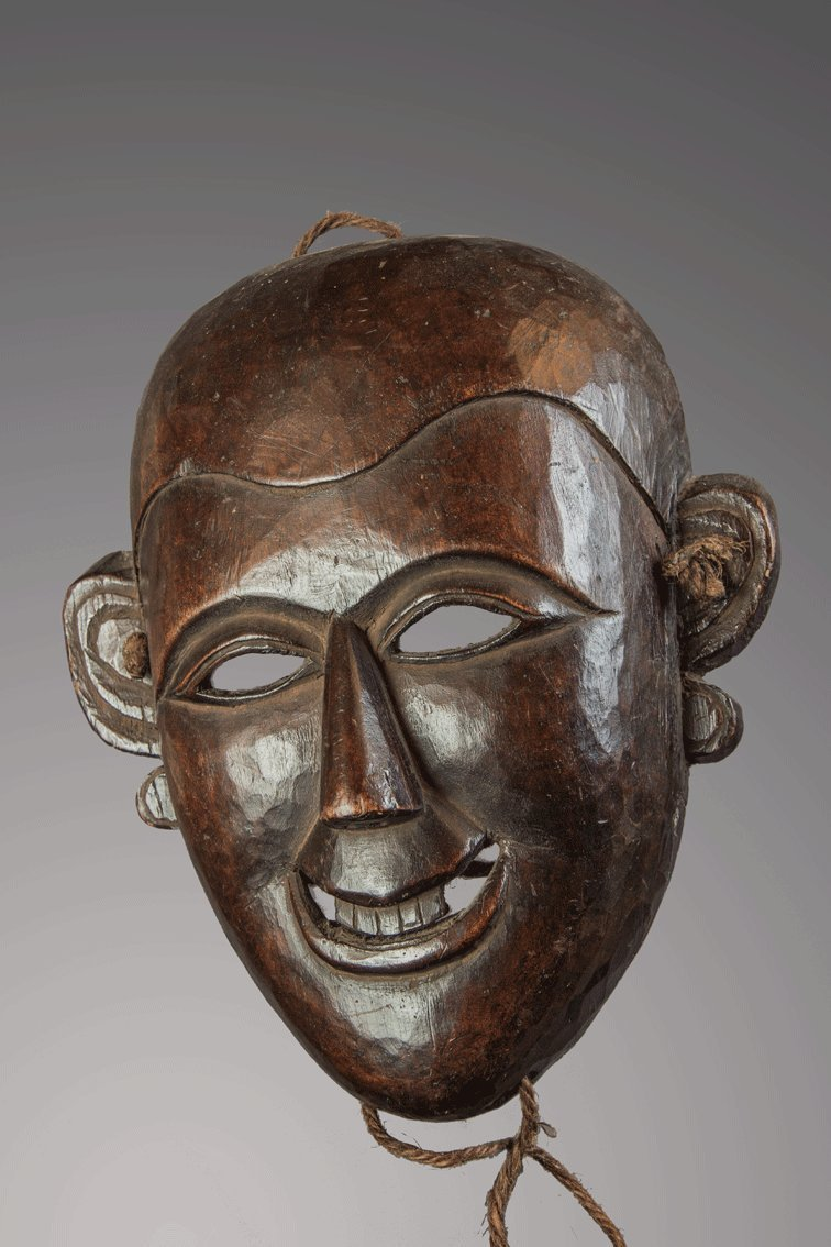 Fine mask from Mompa people , Himalaya, India