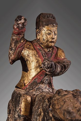 Antique chinese figure from south minorities, China god, China