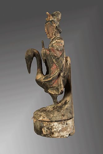 Antique feminine deity from south china minority, China