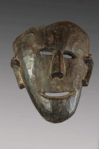 Old Himalayan mask with large ears, Himalaya, Nepal
