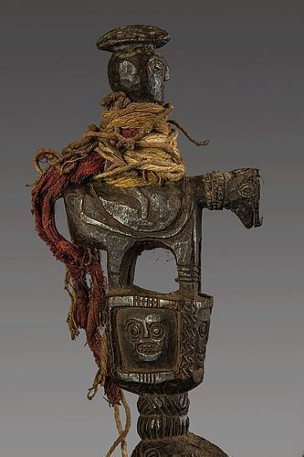 Antropomorphic shamanic phur bu N°73, Himalaya, Nepal