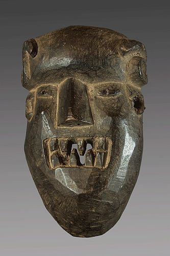 Primitive mask of  a demon , Nepal, Himalaya