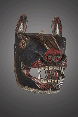 Wolf mask from Himalaya, India, Nepal