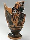 """Lecithe Greek """"Atique"""" en Terre Cuite, 500 BC."""
