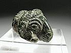 Roman Bronze Head of Ram's, 100-200 AD.