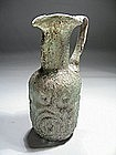 Roman Glass Pitcher Blown in a Mold, 400-600 AD.