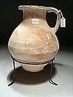 Greek-Hellenistic Terracotta Pitcher, 300-100 BC.