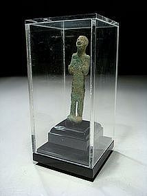 Canaanite Bronze Figure of a Standing God, 2000 BC.