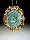Roman Glass Pendant, 100-300 AD.