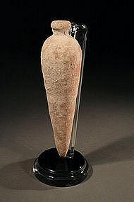 "Iron Age II ""Amonite"" Terracotta Perfume Flask, 800 BC."